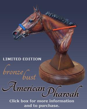 American Pharoah Bronze Bust